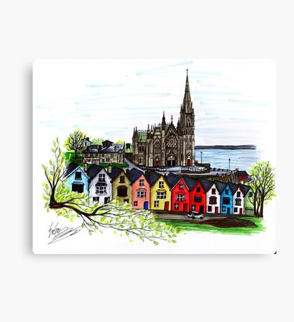 Ireland Pen and Ink Drawing  Canvas Print