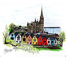 Ireland Pen and Ink Drawing  Photographic Print