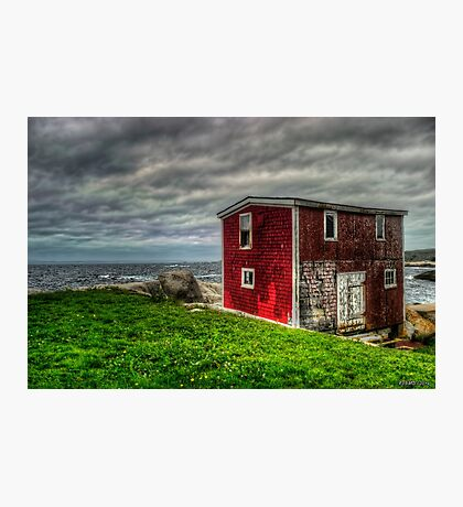Building on the Sea's Edge Photographic Print