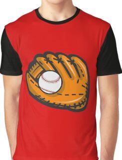 Baseball Glove Ball Retro Graphic T-Shirt