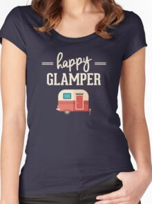 Happy Glamper - Glamping Camping Women's Fitted Scoop T-Shirt