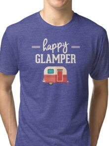 Happy Glamper - Glamping Camping Tri-blend T-Shirt