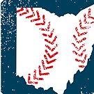 Cleveland Ohio Baseball - Sticker by Patrick Brickman