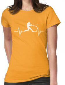Baseball Heartbeat Love Womens Fitted T-Shirt