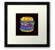 Neon Bacon Cheeseburger Framed Print