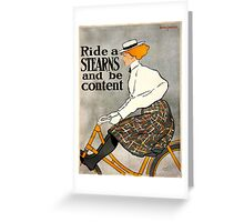 Vintage poster - Stearns Bicycles Greeting Card