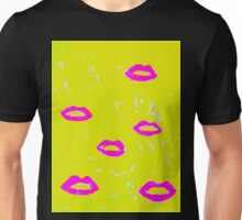 Hot Pink Kiss Unisex T-Shirt