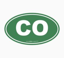 Colorado CO Euro Oval GREEN Kids Clothes