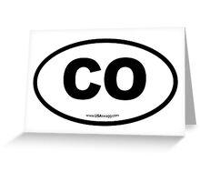 Colorado CO Euro Oval  Greeting Card