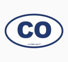 Colorado CO Euro Oval BLUE by USAswagg