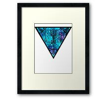 inverted space triangle Framed Print