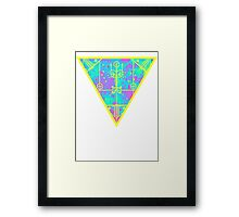 inverted cold neon triangle Framed Print