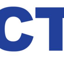 Connecticut CT Euro Oval BLUE Sticker