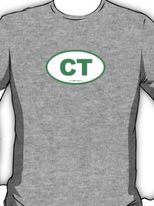 Connecticut CT Euro Oval GREEN T-Shirt