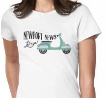 Newport News T-shirt - Moped Scooter Womens Fitted T-Shirt