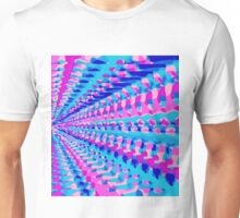 blue and pink painting abstract background Unisex T-Shirt