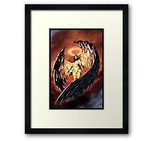 Robot Angel Painting 001 Framed Print