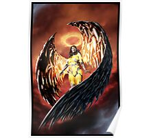 Robot Angel Painting 001 Poster
