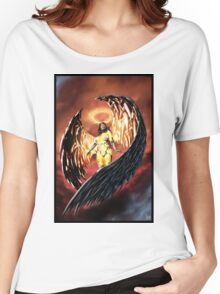 Robot Angel Painting 001 Women's Relaxed Fit T-Shirt