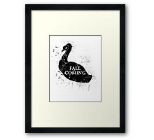 FALL IS COMING (black) Framed Print