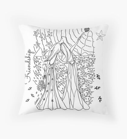 Frienship Throw Pillow