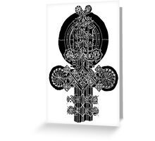 etched ornament Greeting Card