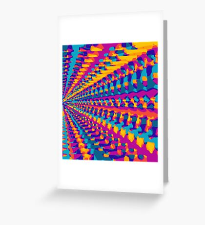 blue pink purple green orange yellow painting abstract background Greeting Card