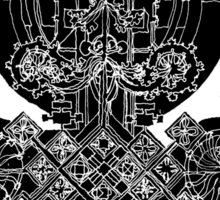 etched ornament Sticker