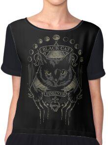 Black Cat Cult Chiffon Top