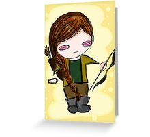 Katniss Everdeen Chibi Greeting Card
