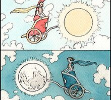 Chariots of the Sun and Moon by ChristmasPress
