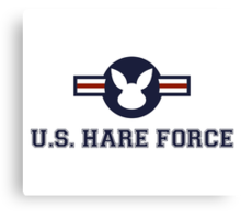 United States Hare Air Force Bunny Canvas Print