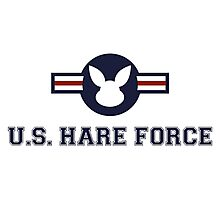 United States Hare Air Force Bunny Photographic Print