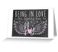 Learning How to Fly Greeting Card