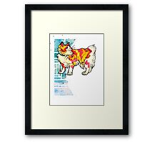 speckled space manx cat Framed Print