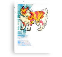 space speckled manx cat Metal Print
