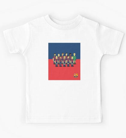 Barcelona as simpson style Kids Tee