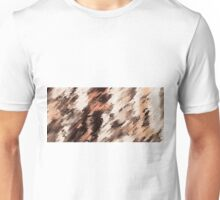 orange brown and black painting texture abstract background Unisex T-Shirt