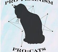 Pro-feminism, pro-cats by Amberly Stimson