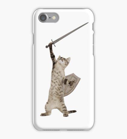 Heroic Warrior Knight Cat iPhone Case/Skin