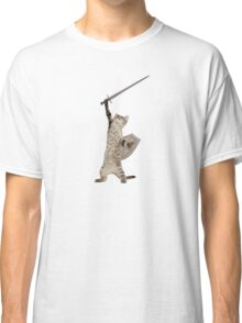 Heroic Warrior Knight Cat Classic T-Shirt