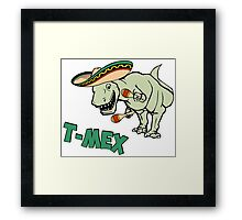 T-Mex T-Rex Mexican Tyrannosaurus Dinosaur Framed Print