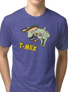 T-Mex T-Rex Mexican Tyrannosaurus Dinosaur Tri-blend T-Shirt