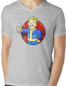 vault boy Mens V-Neck T-Shirt