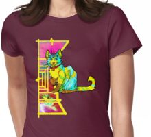 multieyed mutant feline Womens Fitted T-Shirt
