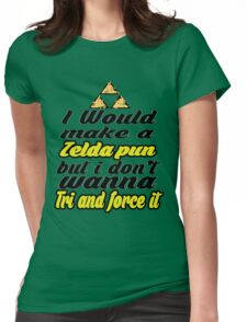 Triforce - Legend of Zelda - phunny  Womens Fitted T-Shirt