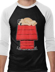 Snoopy Pug Men's Baseball ¾ T-Shirt