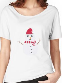 Chirstmas Snowman with winterscarf Women's Relaxed Fit T-Shirt
