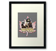 Keep Calm and Trust The Bear Framed Print