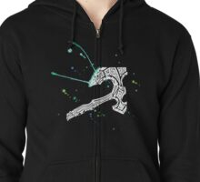 Watercolor Axe [White Ink] Zipped Hoodie